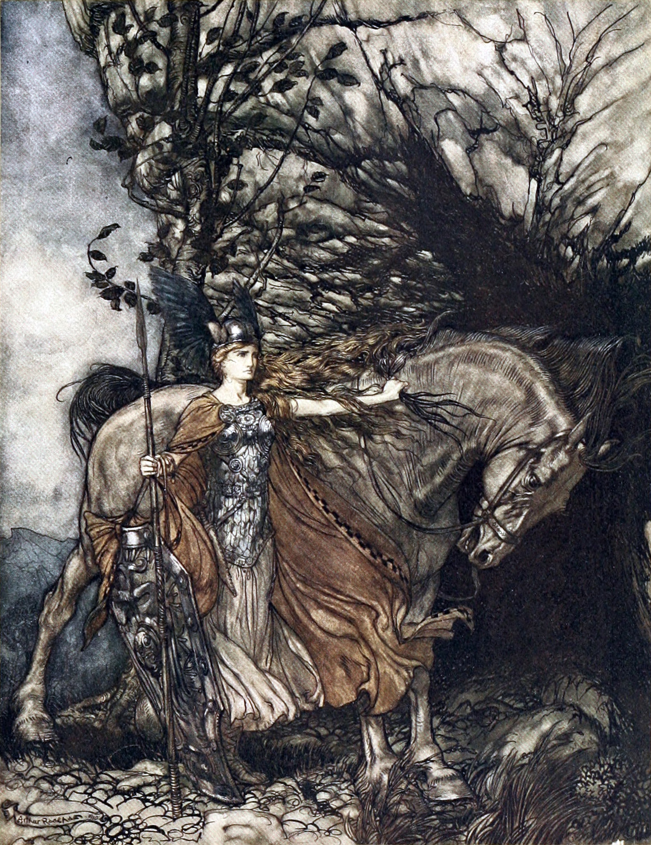 Brunnhilde the Valkyrie, 1910, by Robert Conrad